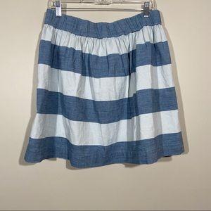 NWT GAP Striped Rugby Elastic Waist Skirt